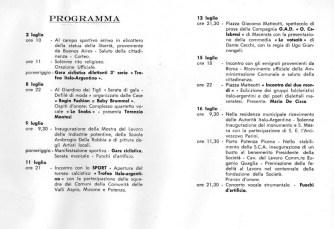 Programma della Manifestazione per la piramide de Mayo