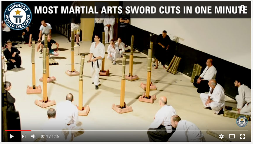Most martial arts sword cuts in one minute
