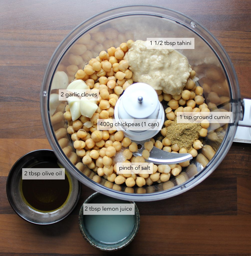 hummus ingredients labels recipe plant-based