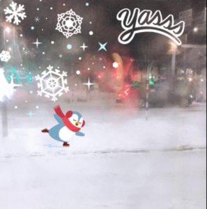 Snow in Göteborg 2018