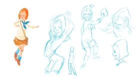 DDR Mädchen Character Design Sketches No 3 2014 (Sketchbook Pro)
