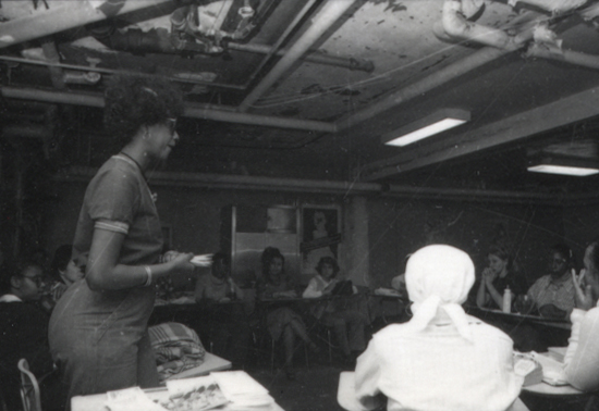First Battered Women Shelter in 1977 in New York City.  Photo: Rosie Mackiewicz. Courtesy of the Sophia Smith Collection