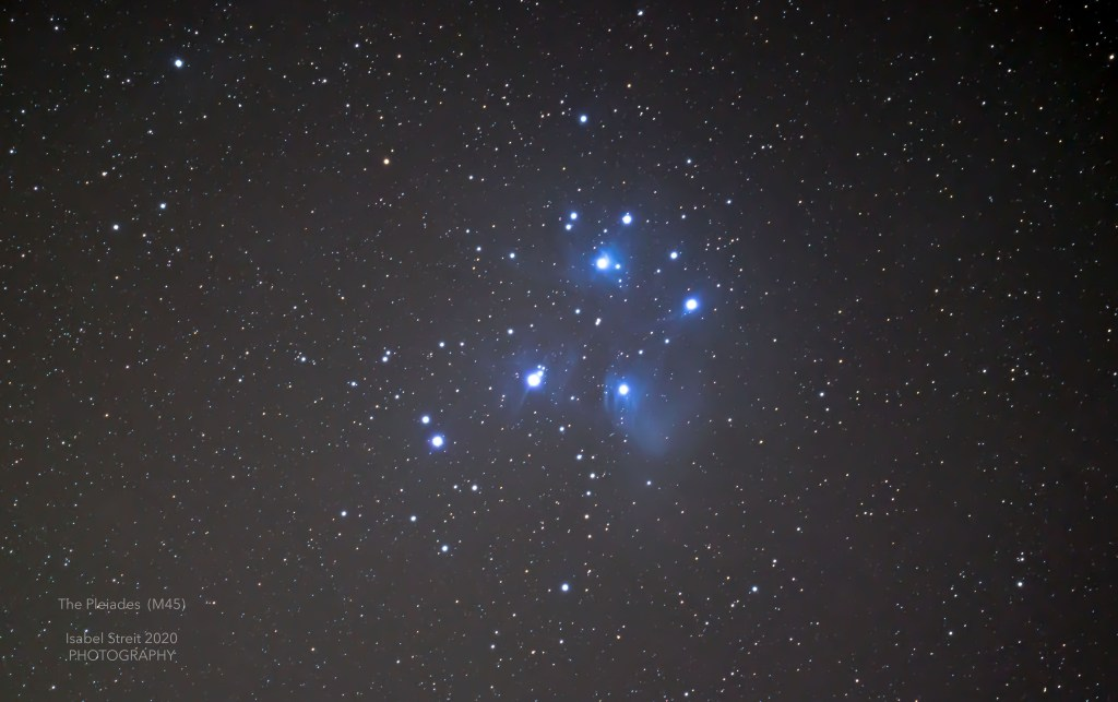 Pleiades - Open star cluster