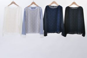 3D Geometric Pattern Russell Lace Blouse
