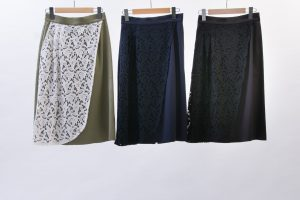 Front lace wrap skirt