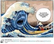 英首相候補とG7を絡めた風刺画