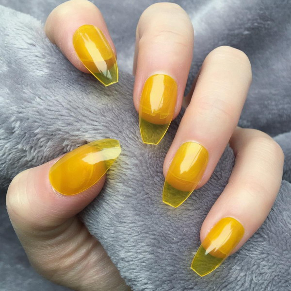 Colorful Jelly Nails Trends 2021