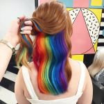 Hair Trend 2021: hidden rainbow hair works your imagination