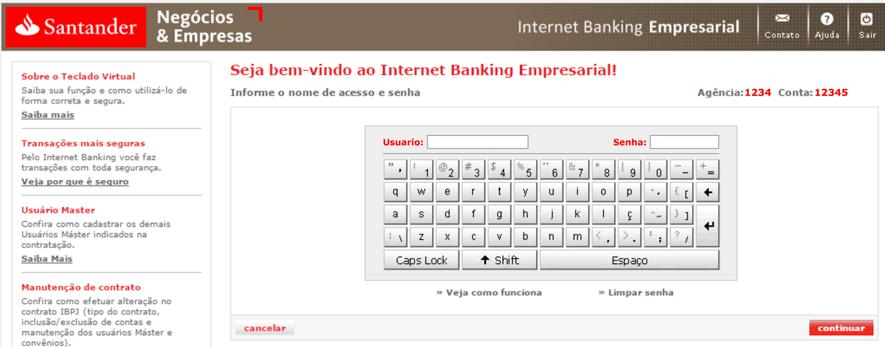 Figure 3 - Fillin the username and password on the fake website