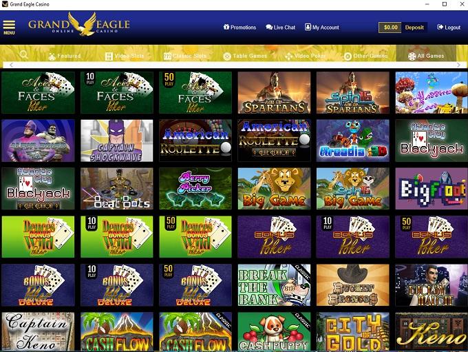Grand Eagle Casino Games