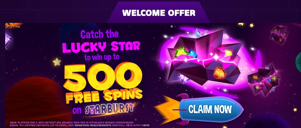 Space Wins Casino Welcome Bonus