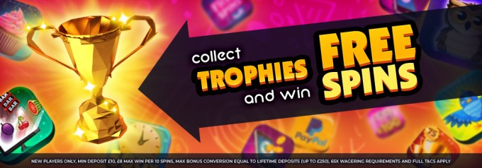 Collect Trophies and Win Free Spins