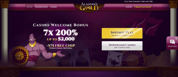 Is Aladdins Gold Casino Legit