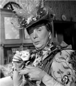 Edith Evena as Lady Bracknell