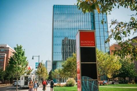 View of boston university building