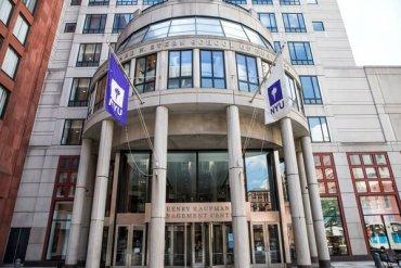 New York University building on the NYU campus