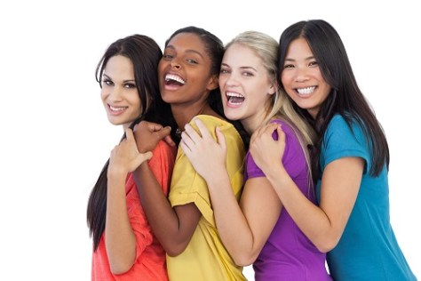 Four women laughing and displaying cultural diversity of Australia
