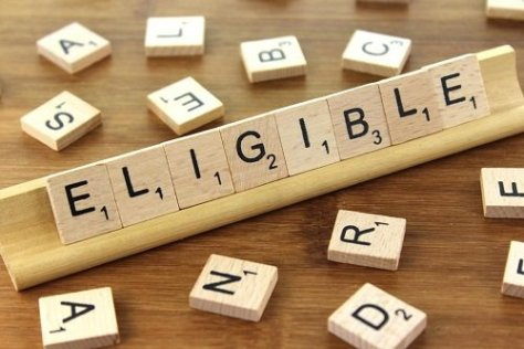 "The word ""eligible"" written with wooden tiles"