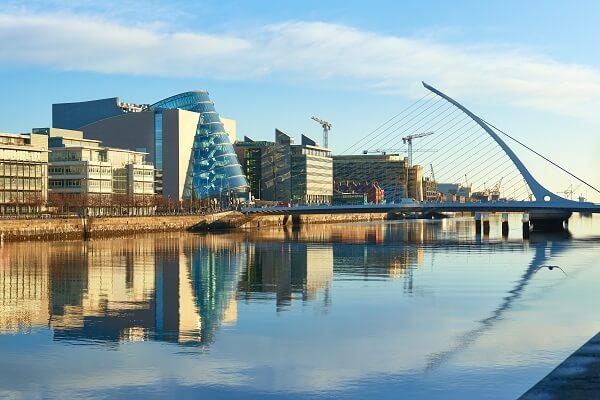 A view of Ireland skyline
