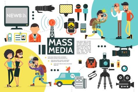 mass media - inforgraphic