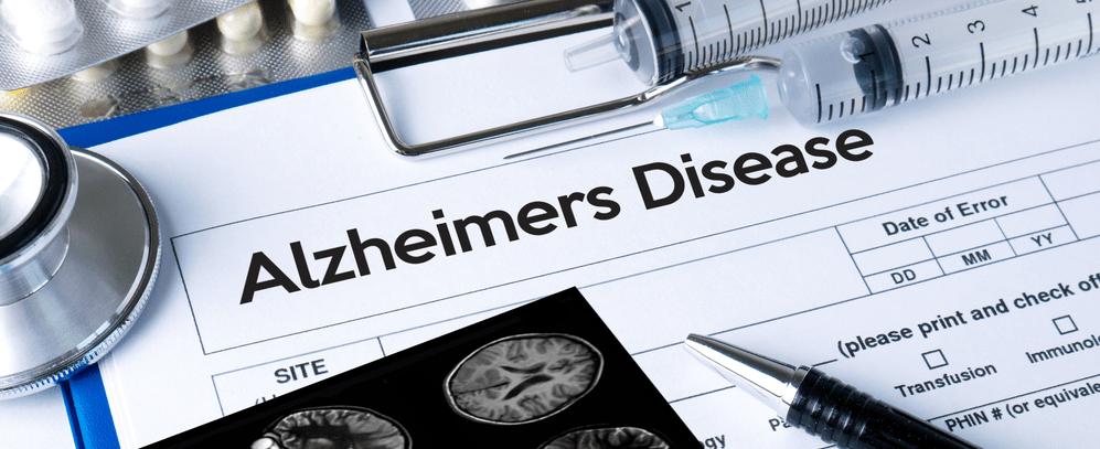 Clipboard with alzheimers patient checklist