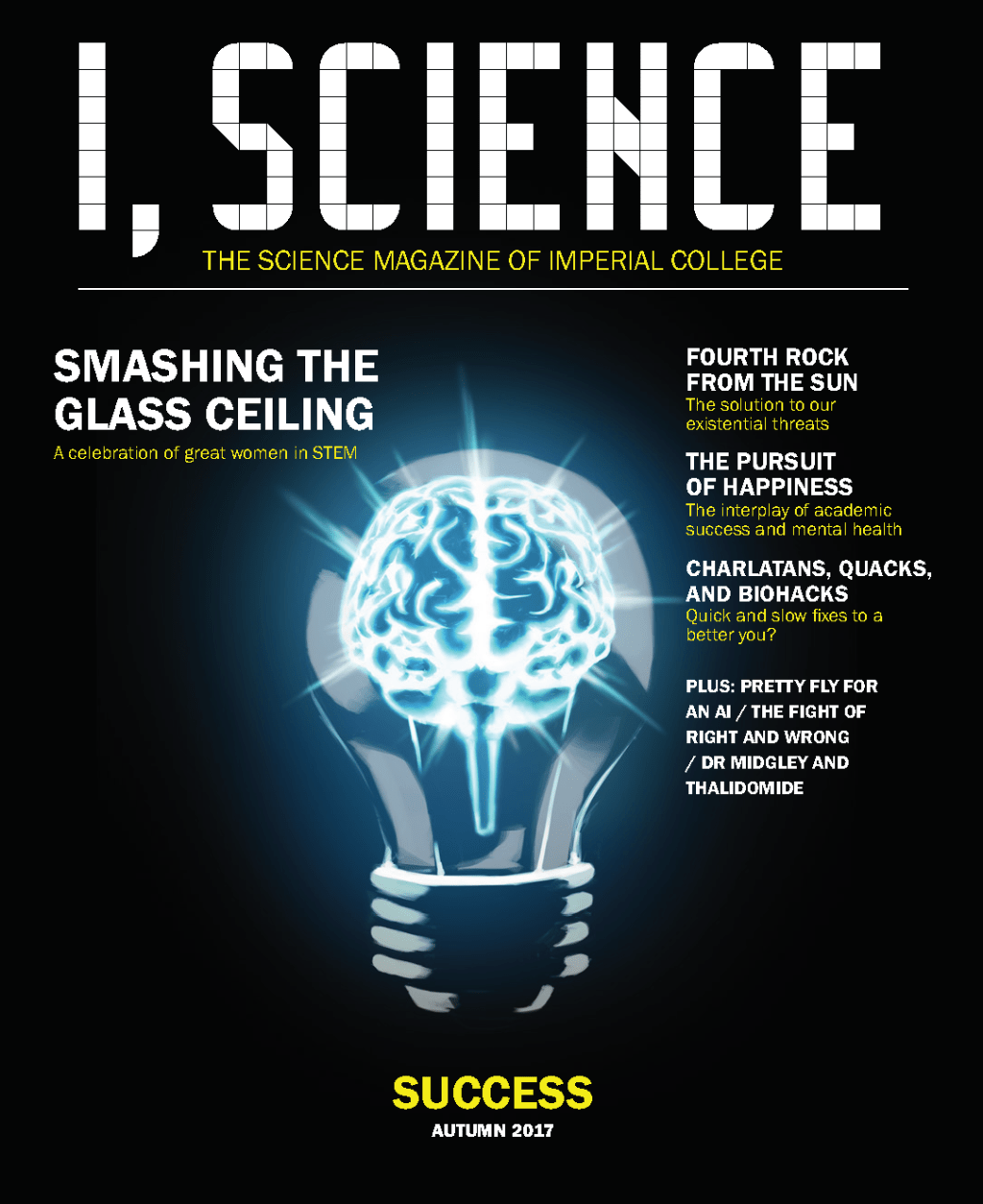 I, Science Magazine Success cover