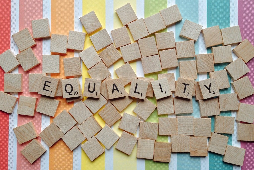 Scrabble pieces spelling Equality