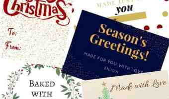 Free Printable Christmas Food Gift Tags