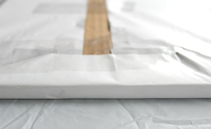 Covered edges of a square cake board