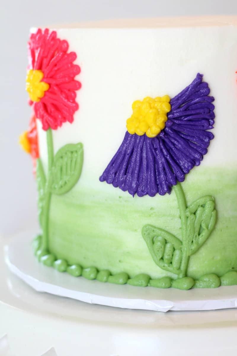 Easy Buttercream Flower Cake I Scream For Buttercream