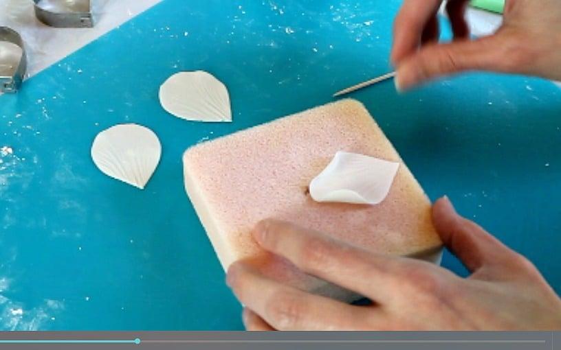 Curling the petal edges 2