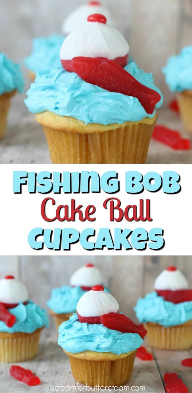 Fishing Bob Cake Pop Cupcakes