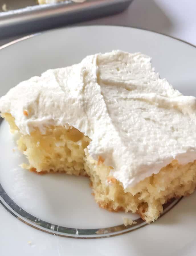 Piece of Yellow Buttermilk Sheet Cake