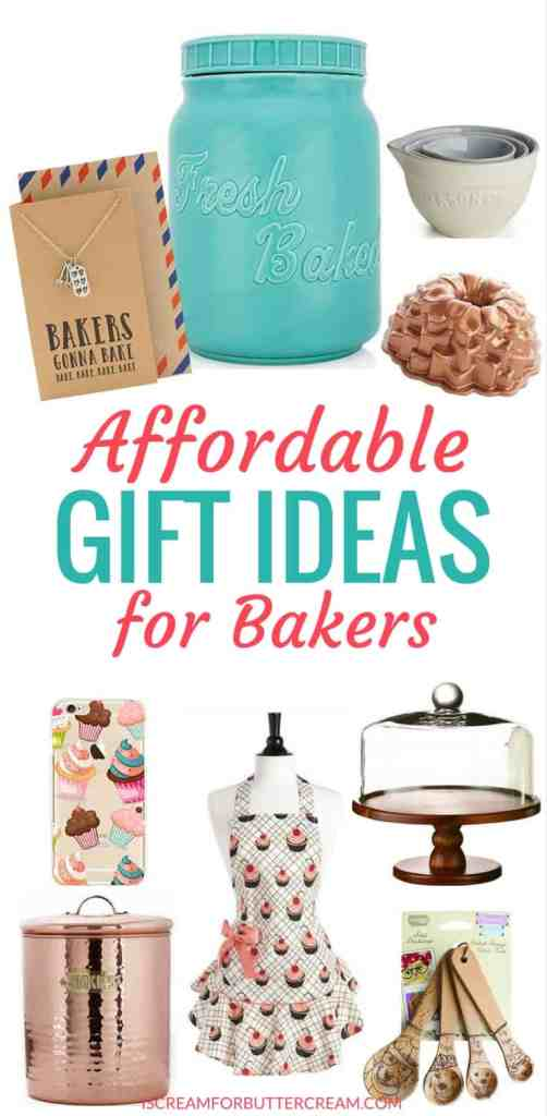 Affordable Gift Ideas for Bakers Pinterest Graphic