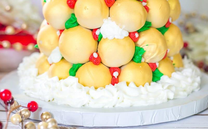 border of Cake Pop Christmas Tree