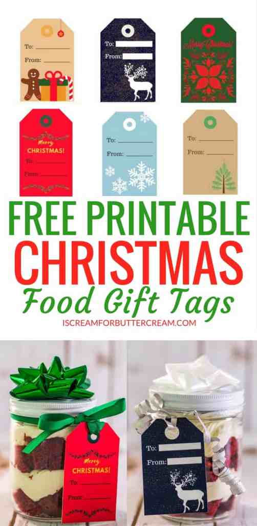 Free Printable Tags for Food Gifts Pinterest Graphic