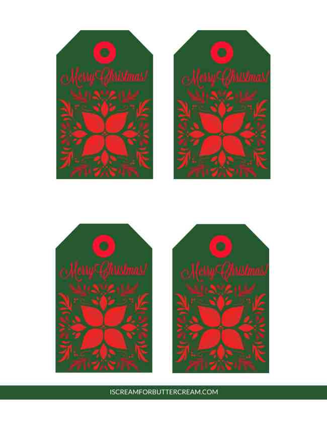 Free Printable Tags for Food Gifts Green Tags