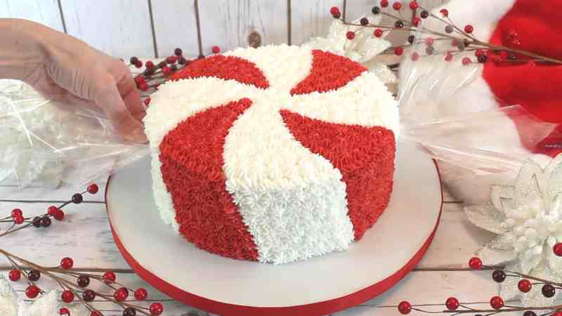 Giant Peppermint Candy Cake