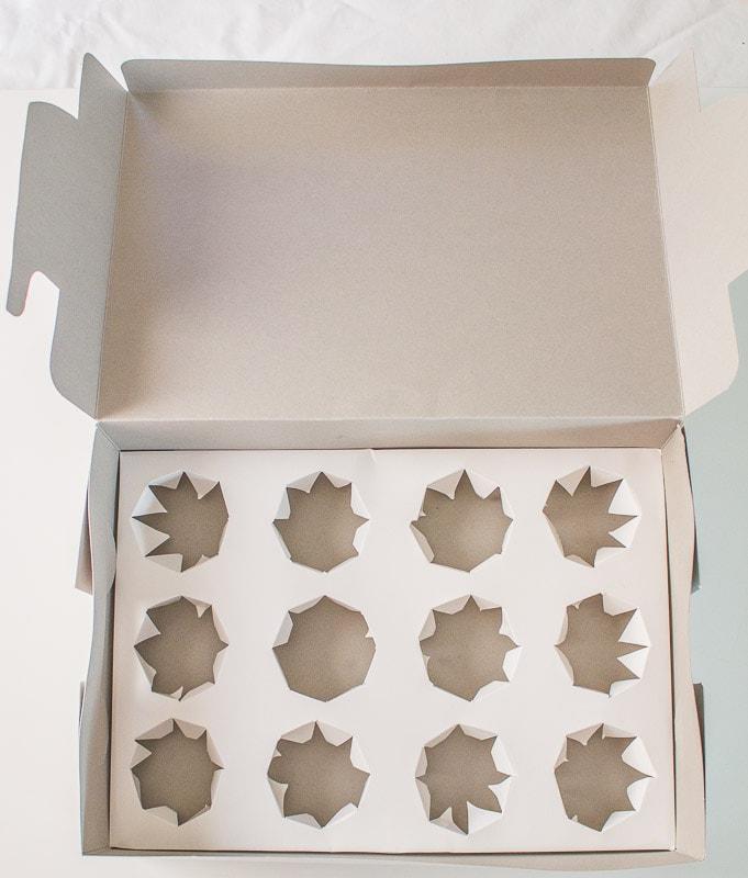 DIY cupcake inserts open box