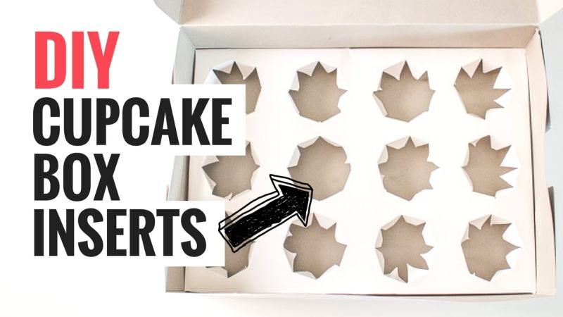 DIY Cupcake Box Inserts Graphic