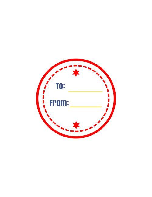 red circle label printable pic