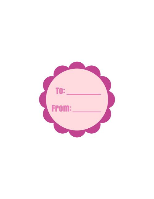 purple and pink round printable label