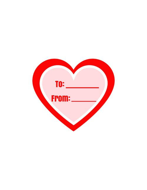 red heart printable label pic