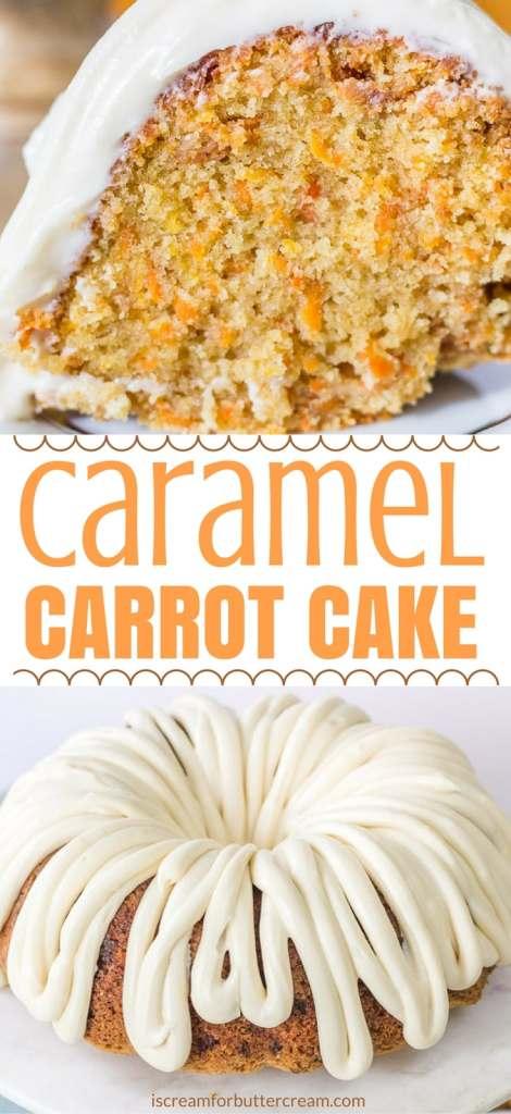 Caramel Carrot Cake Pinterest Long Pin