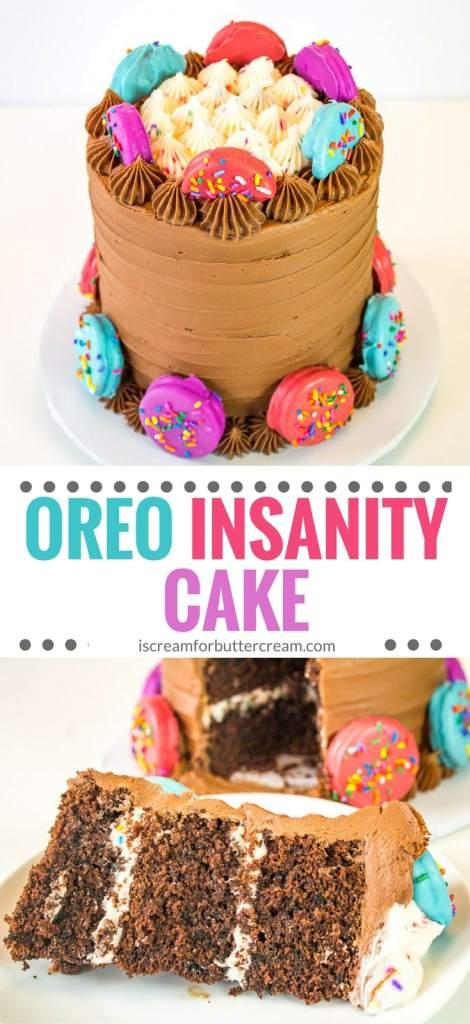 oreo chocolate cake pinterest graphic