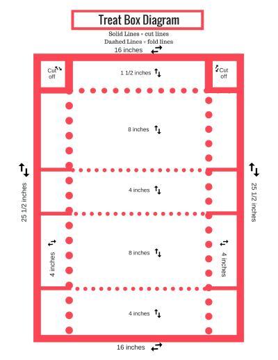 DIY treat box printable diagram