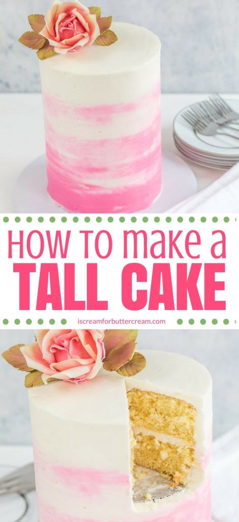How to make a tall cake long pinterest graphic