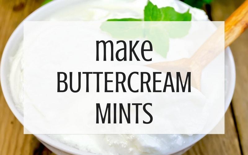 make buttercream mints from leftover buttercream