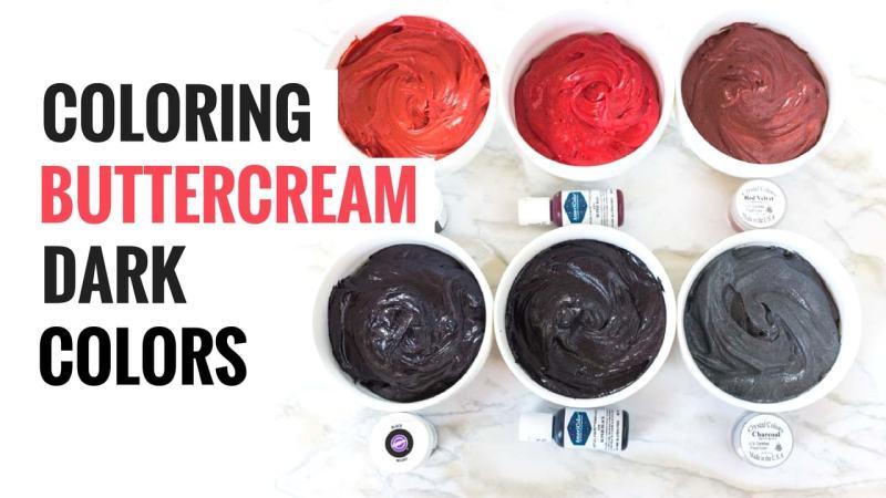 Coloring Buttercream Dark Colors Blog Header Graphic