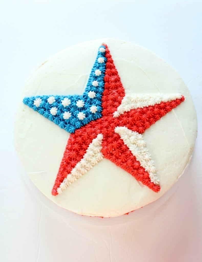 Patriotic Star Cake